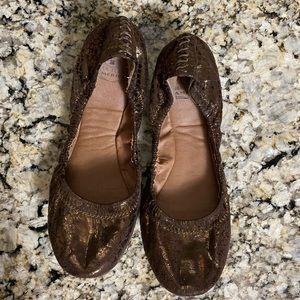 Lucky Brand Shoes - ***Lucky 🍀 metallic snakeskin 🐍 ballet flats***